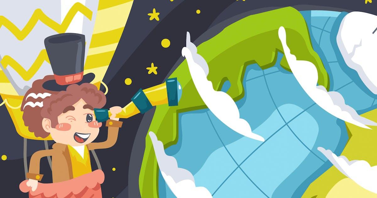 Download World Explore Kids Illustration by Slidehack