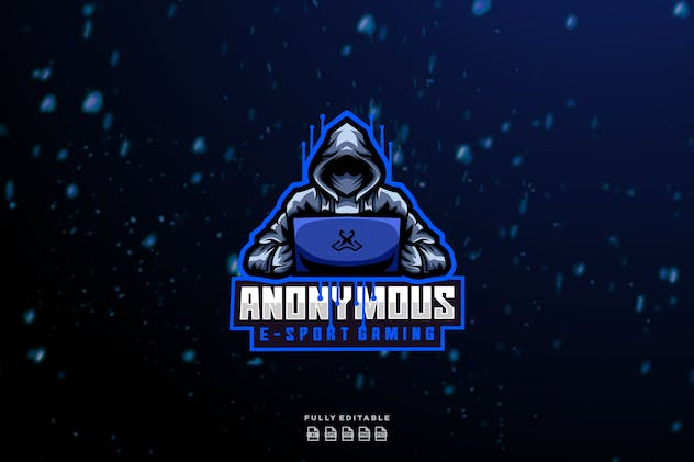 Anonymous E-sport Gaming Logo - product preview 0