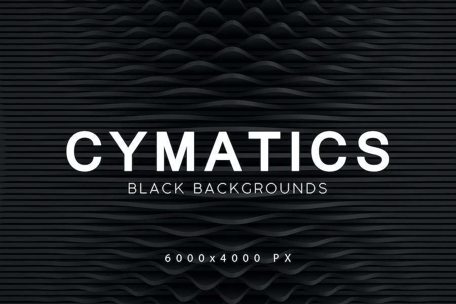 Cymatics Black Backgrounds 2