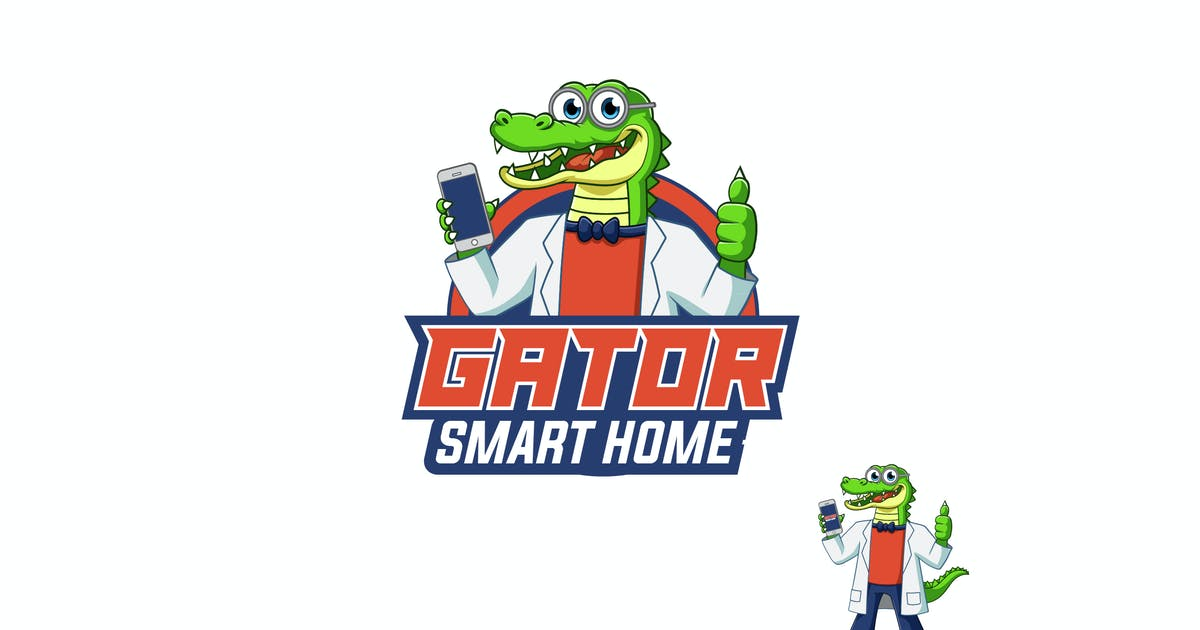 Download Gator smart home Logo by PremiumLayers