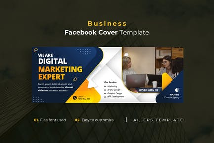 Business r19 Facebook Cover Template