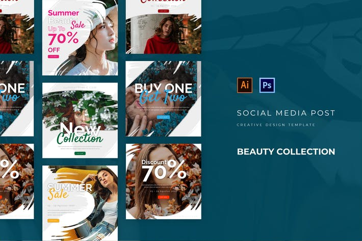Thumbnail for Beauty Collection Social Media Post