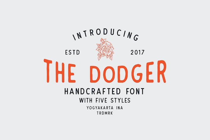 Thumbnail for The Dodger + Extras (11 Fonts !)