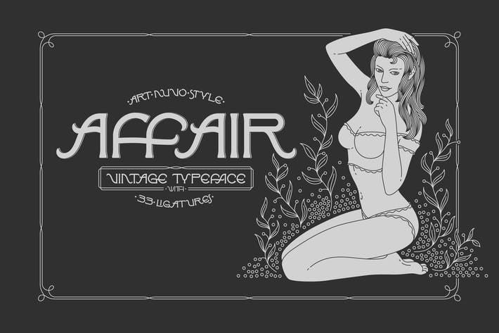 Thumbnail for Affair Typeface