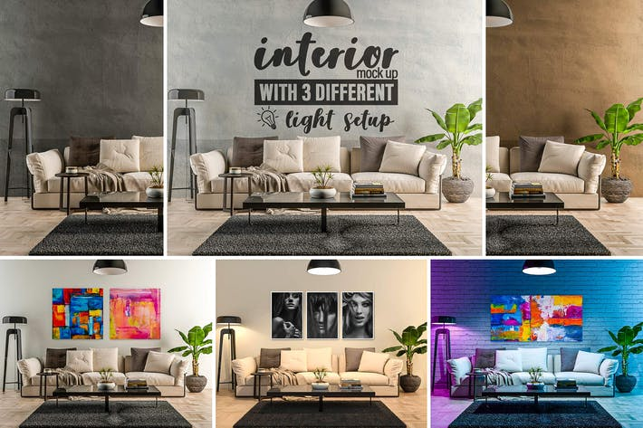 Thumbnail for Interior Mock-up by day and by night vol.02