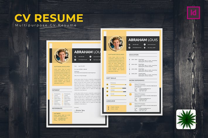 Thumbnail for Attractive Resume Template