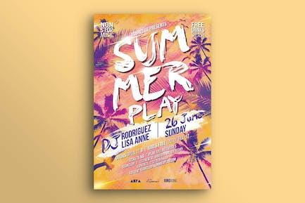 Summer Play Flyer