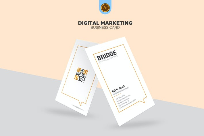 Thumbnail for Bridge - Digital Marketing Business Card 04