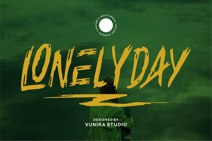 Thumbnail for Lonelyday | Rough Brush Font
