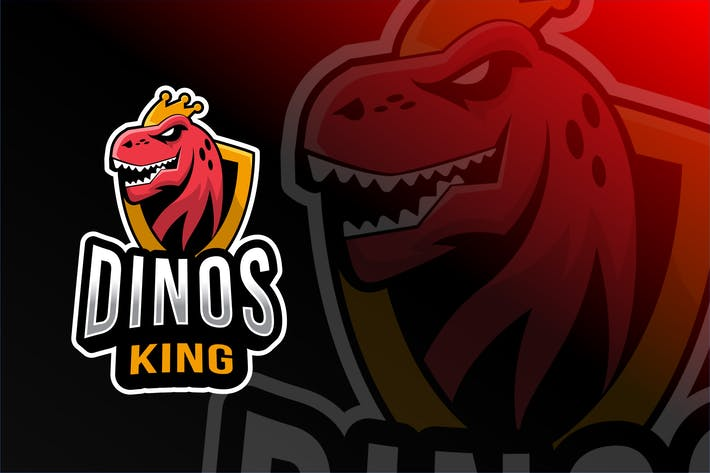 Thumbnail for Dinos King Esport Logo Template