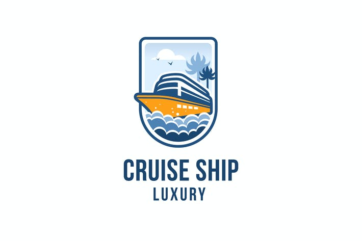 Thumbnail for Cruise Ship Luxury Logo Template