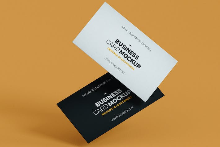 Thumbnail for Simple Business Card Mock-Up Template