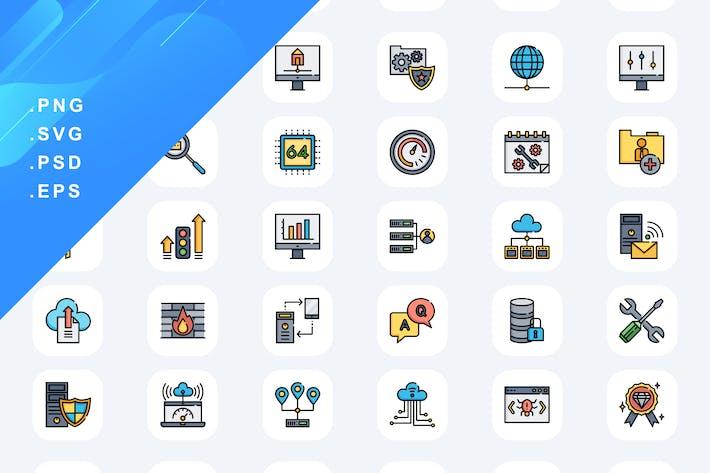 40 Web Hosting Icons