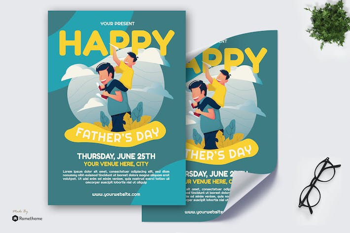Thumbnail for Fathers Day - Creative Poster GR