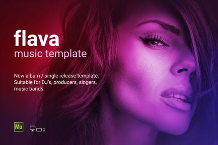 Flava - Music album / single promo site template