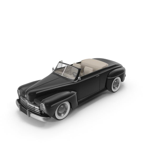 Vintage Convertible Car Black