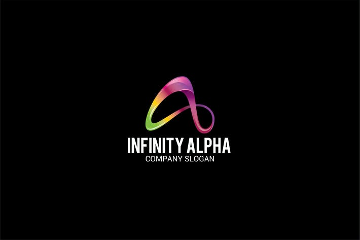 Thumbnail for INFINITY ALPHA Letter A Logo