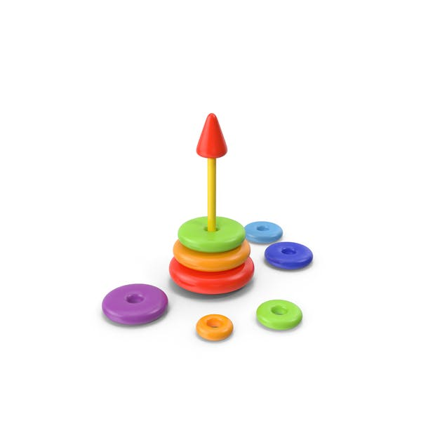 Thumbnail for Stacking Toy Disassembled
