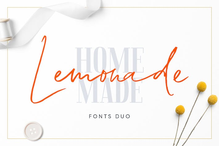 Thumbnail for Lemonade Fonts Duo