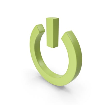 Power Icon Light Green