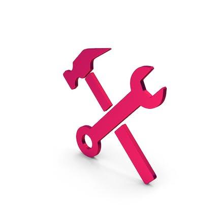 Symbol Wrench And Hammer Metallic