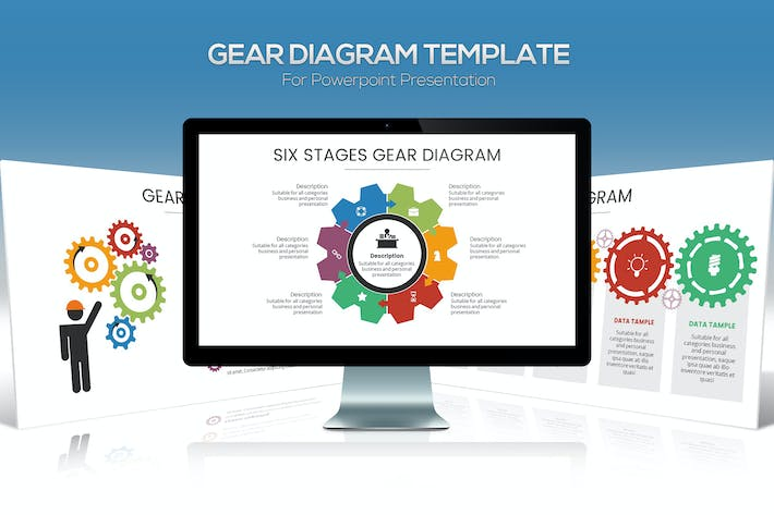 Thumbnail for Gear Diagram Powerpoint Template