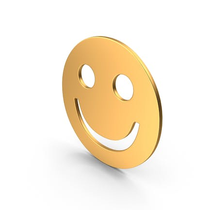 Gold Smiley Face Sign