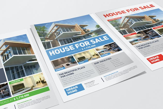 3 Urban Real Estate Flyers - product preview 4
