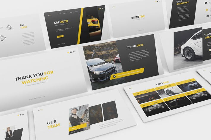 Thumbnail for Car Auto Google Slides Template