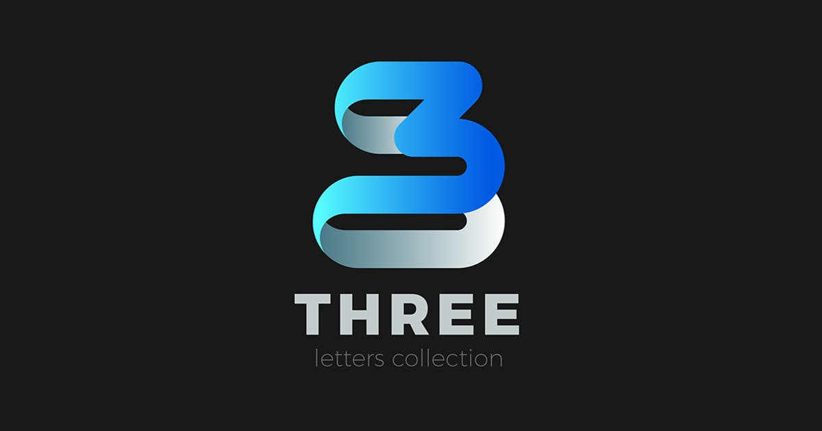 Download Number 3 Three Logo design ribbon style by Sentavio
