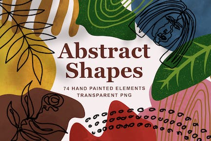 Modern Abstract Shapes & Line Art #2
