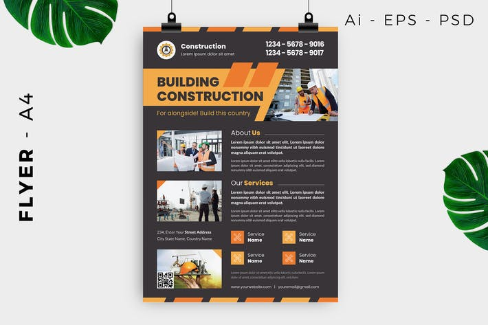 Thumbnail for Construction Flyer Design