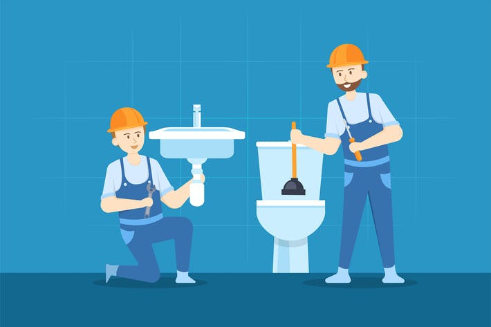 Thumbnail for Young plumber is repairing the hand sink