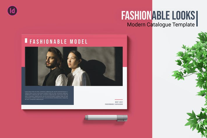 Thumbnail for Fashion Look – Catalogue Template