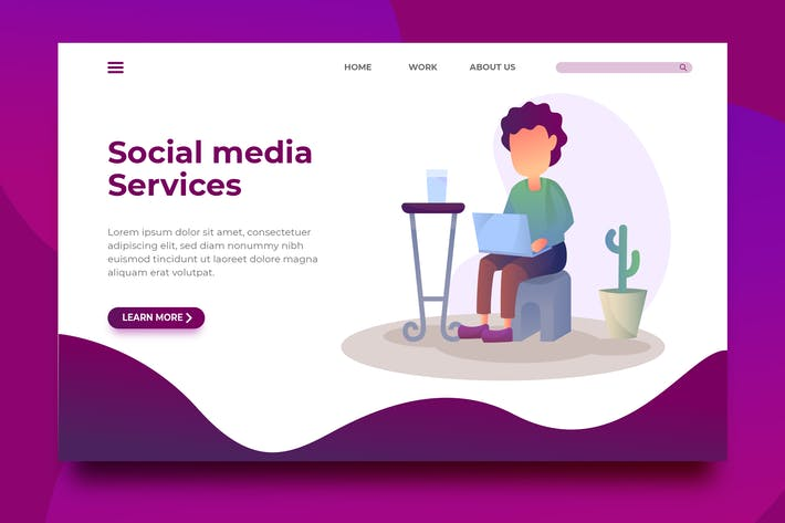 Thumbnail for Social Media Services - Landing Page