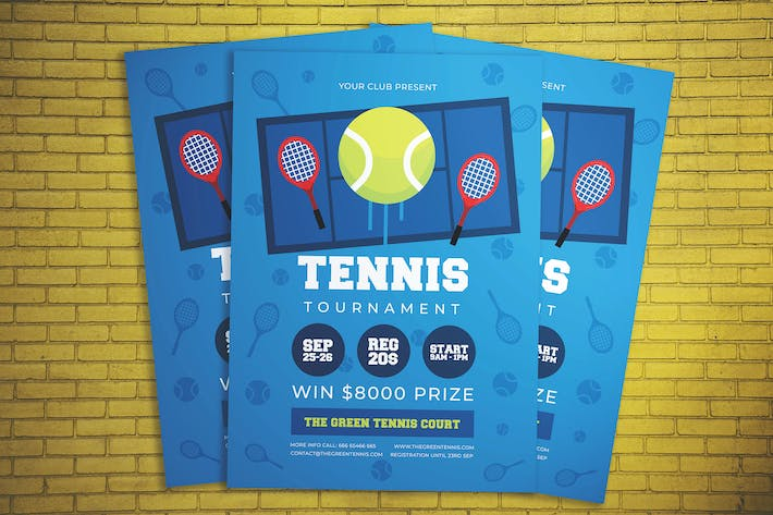 Thumbnail for Tennis Tournament Flyer