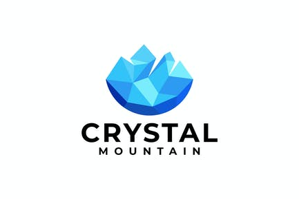 Crystal Mountain Geometric Logo Template