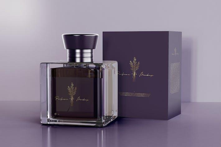 Parfüm mit Verpackungs-Mockup