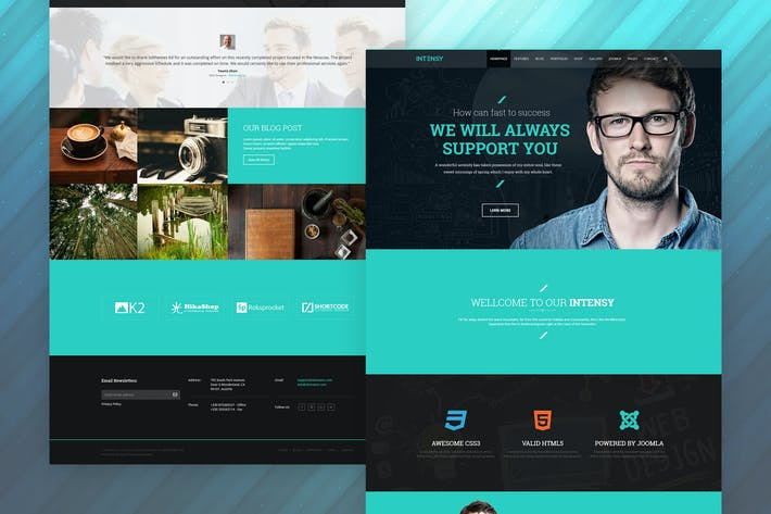 Thumbnail for Intensy - Multipurpose Joomla Template