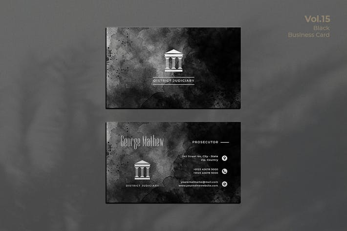Thumbnail for Black Business Card. 15