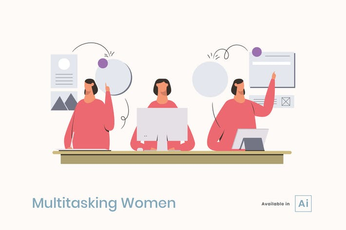 Thumbnail for Multitasking Women