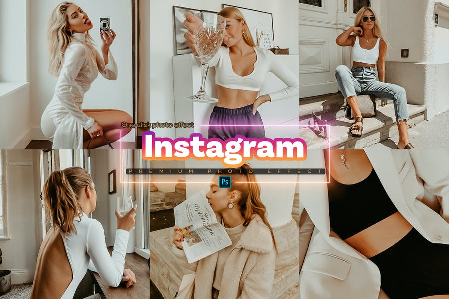 Instagram Photoshop Action
