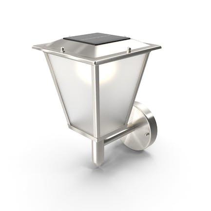 Lámpara de pared solar de diseño Clásica al aire libre encendida