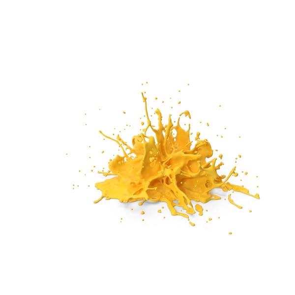 Gelber Splash
