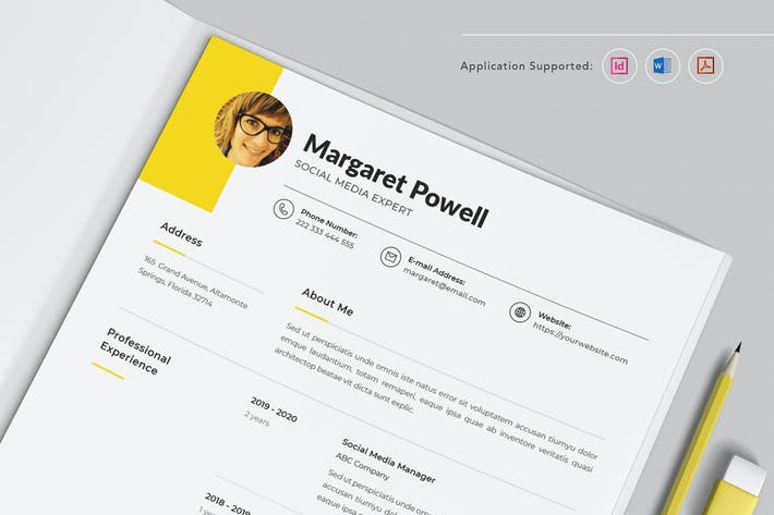 Thumbnail for Professional CV Resume Indesign Template Vol.1