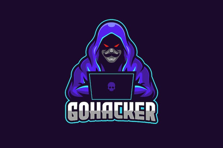 Thumbnail for Go Hacker E-sports Logo Template