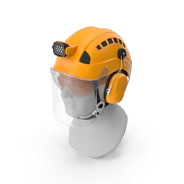 Professional Helmet With Airation For Work At Height And Rescue P...