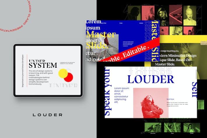 Thumbnail for Louder - Urban Design Powerpoint Creative Slide