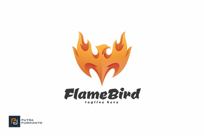 Thumbnail for Flame Bird - Logo Template