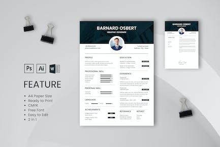 Professional CV And Resume Template Osbert